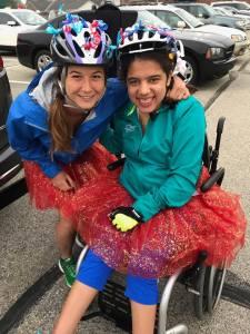 Susie Bousquet Guide with Sara Solomon Athlete