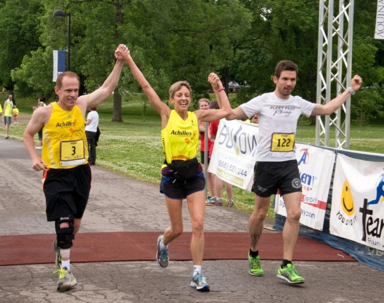 Athlete Tony Rossi (left) Athlete Trish Meili (middle) Olaf Wasternack (right)