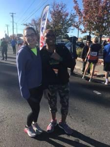 Guide Lena Menkes and Athlete Theresa Khayyam
