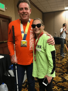 Richard Hunter and Athlete Stephanie Zundel
