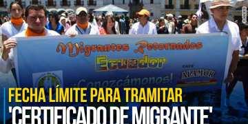 Hasta el 6 de agosto los ecuatorianos retornados al país tendrán de plazo para tramitar su 'Certificado de Migrantes'. Foto: Andes