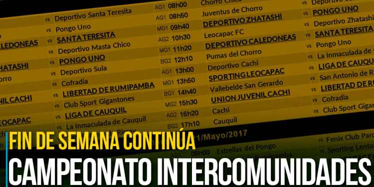 Campeonato Intercomunidades continúa este fin de semana