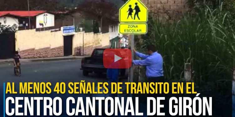 Unidad Municipal de Tránsito de Girón coloca señalización vertical en Girón