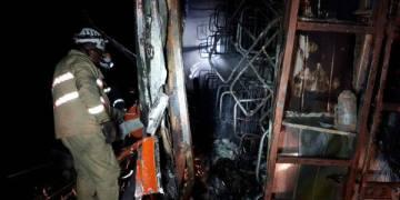 bus incendiado