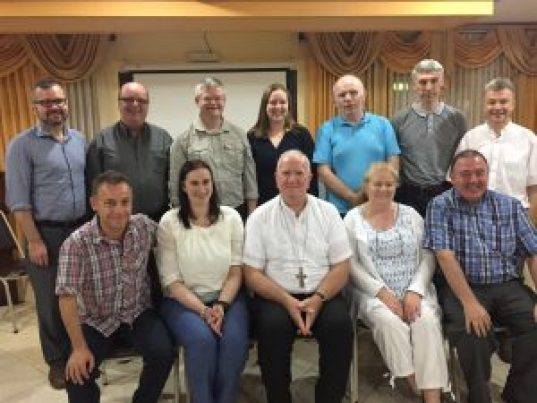 Bishop Michael with Trocaire Group in La Ceiba, Honduras