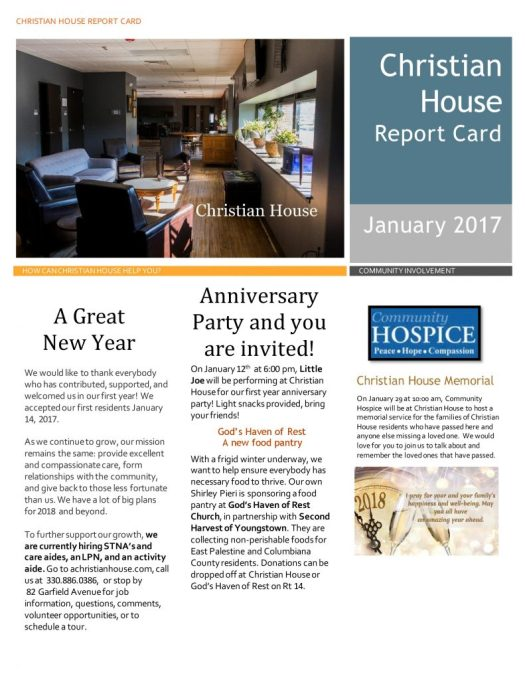 Our January Report Card