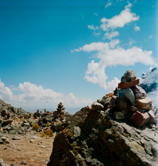 Cairn-like monuments.