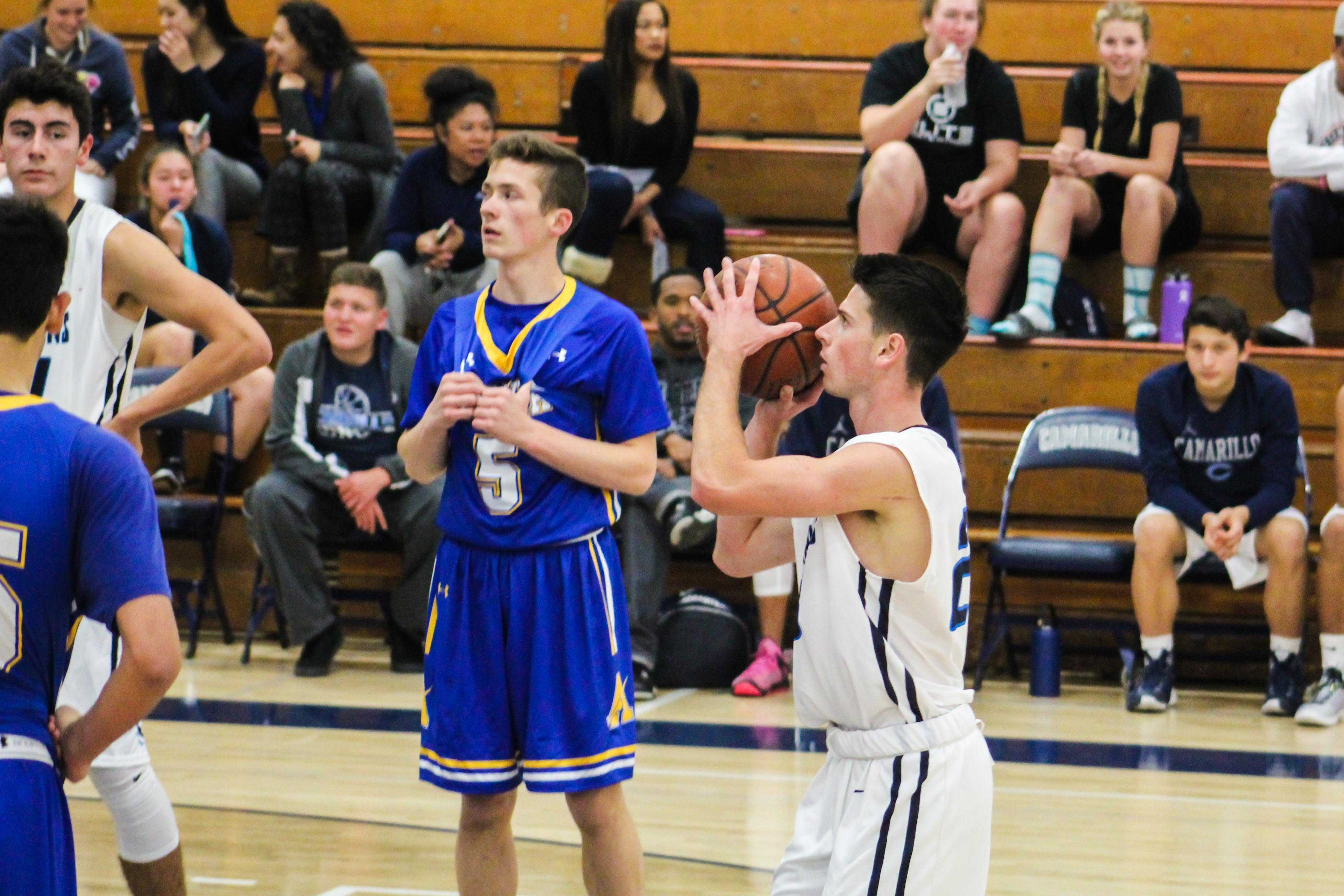 Brandon Adair, senior, shoots a free throw.
