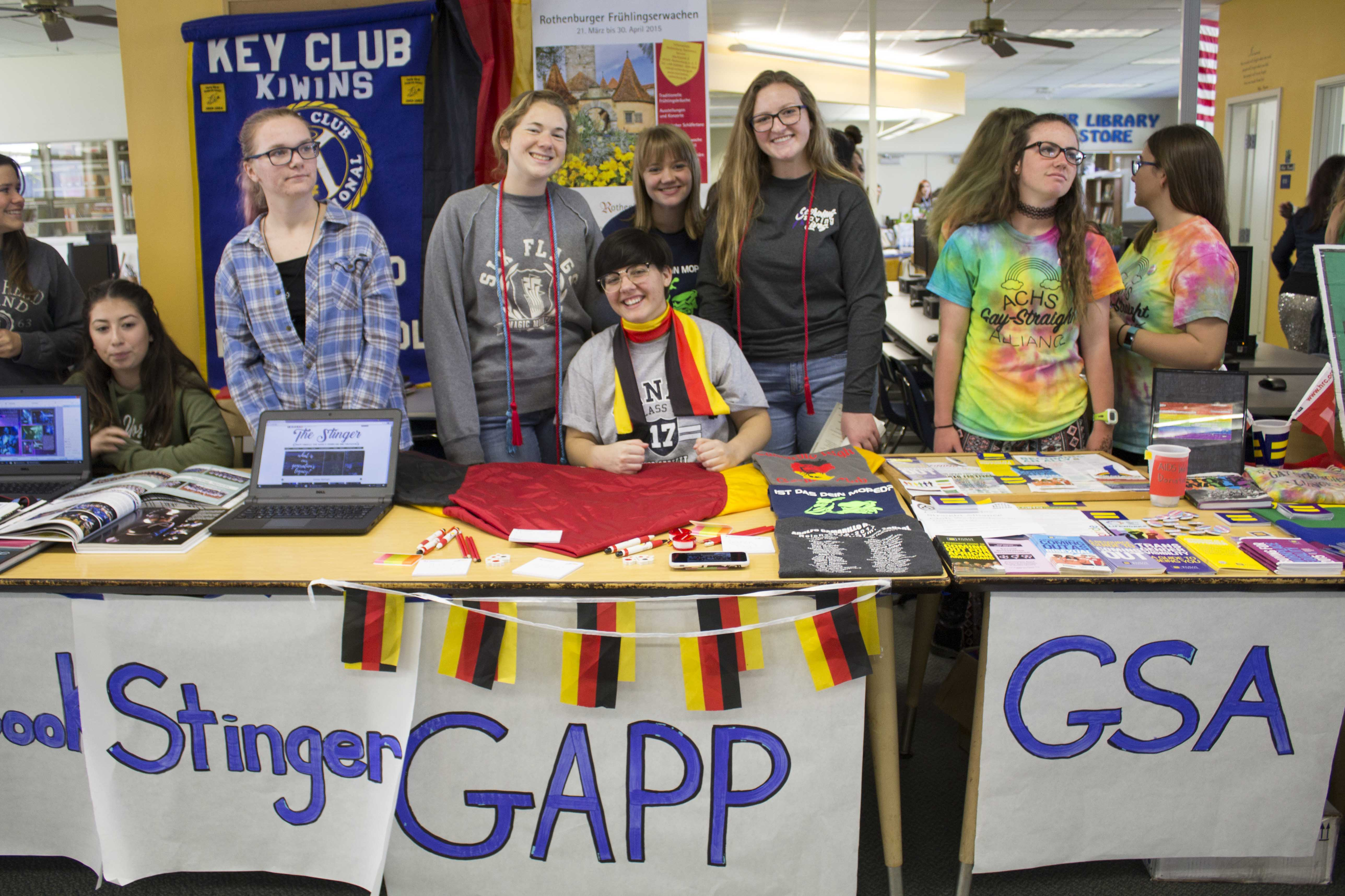 Kelsey Keefer, Maddi Boulais, Audrey Creel and Sarah Smith from the German American Partnership Program (GAPP).