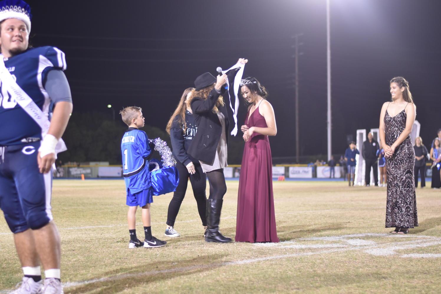 Marissa Hiji is crowned Senior Homecoming Queen.