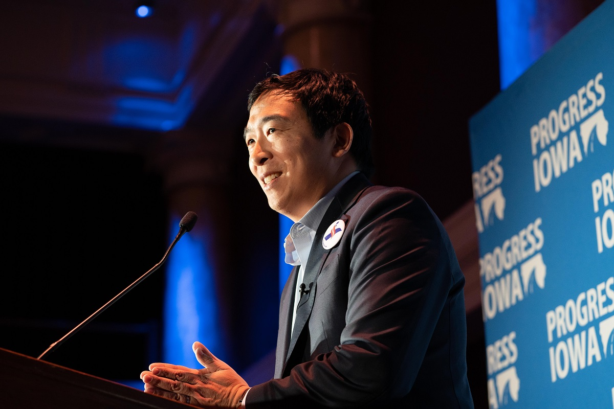 Andrew Yang is one of the Democratic presidential candidates for the 2020 election.