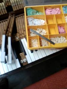 broken piano: key punchings