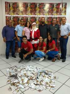 Equipe Acicel-CDL e Papai Noel
