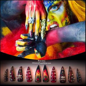#TBT LAVA GURL by @acidbetty featuring nails by me #Acidbettyrocks #youcanmopitbutyouaintit #legend #icon #artist #dragqueen #rupaulsdragrace #customnails #madetoorder #forsale #instamanicure #manicuresdelivered #instasexy #instanails #falsenails #presson #glueon #stilettonails ✨ #nailart #nailartist #editorial #nailfetish #nailcouture #nailjewelry #lava #accessory #fashion #advantegarde #unicornspoopglitter