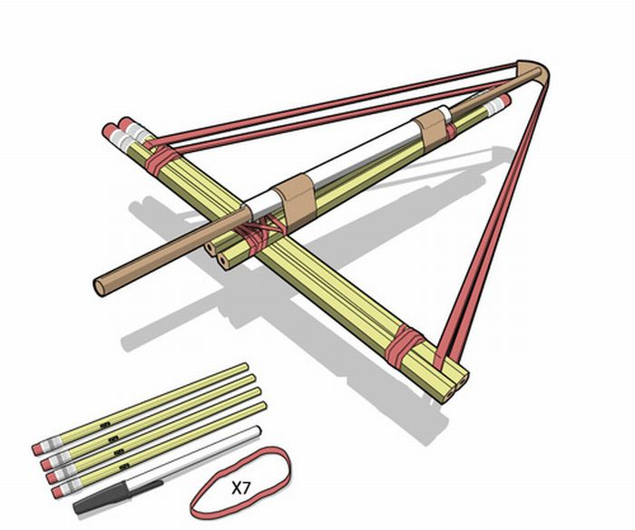 How to Build a Pencil Crossbow (8 pics)