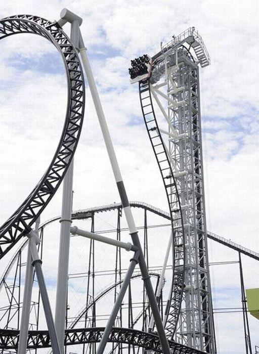 Takabisha, tertajam Roller Coaster Dunia (14 Pics + 1 video)