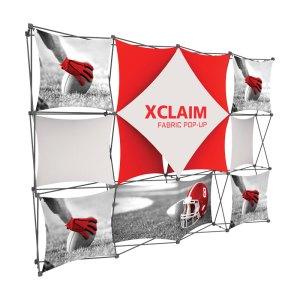 10 x 10 XCLAIM Fabric Popup Exhibits
