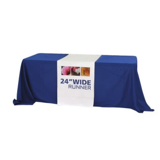 Full Color Printed Fabric Table Runners - 24 inch