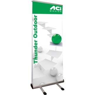 Thunder Outdoor Banner Stand Display