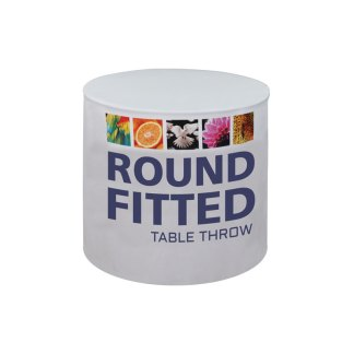 Fitted Printed Table Covers For Round Tables