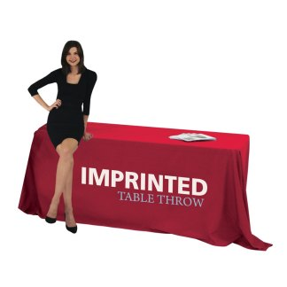 Solid Color Fabric Table Throw Covers
