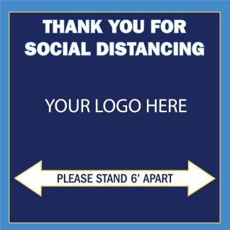 Thank You For Social Distancing Floor Graphic Decal