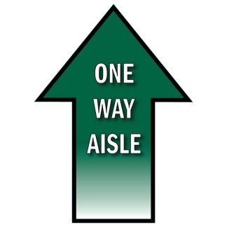 One-Way Aisle Arrow Traffic Flow Floor Decal