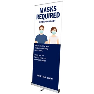 Covid-19 Safety Banner Stand