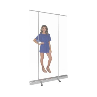 """47.25"""" Wide Clear Plastic Retractable Banner Stand Screens"""