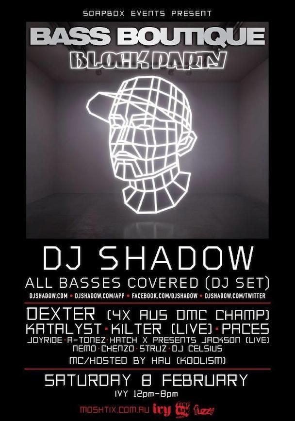 Bass Boutique - DJ Shadow, Dexter, Katalyst & Kilter_Poster