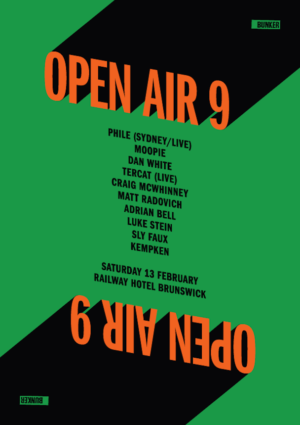 Bunker Open Air 9 - poster - acid stag