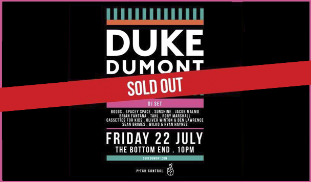 We Review Duke Dumont at Bottom End – July 22, 2016