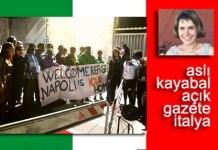 Çocuklu 12 kadın sığınmacı Gorino'da protesto edildi