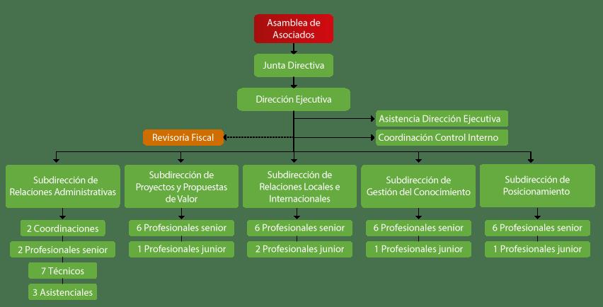 Organigrama ACI Medellín