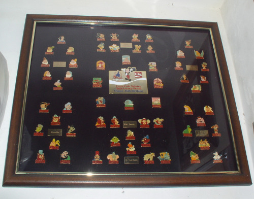 Disney 15th Anniversary Coca Cola Framed Set 60 Pins New