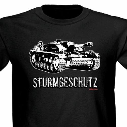 Stug III Sturmgeschutz Panzer Tank Ww2 Assault Gun Tee Shirt black.jpg
