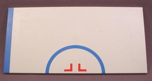 lego 48288p03 white 8x16 tile with blue semicircle stripe pattern 2 1 2