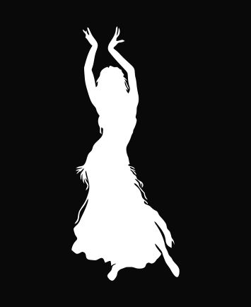 Exotic Belly Dancer Die Cut Vinyl Decal Sticker - Texas Die Cuts