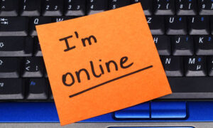 I'm online note on a keyboard