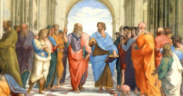 Platón y Aristóteles en La escuela de Atenas, de Raffaello Sanzio