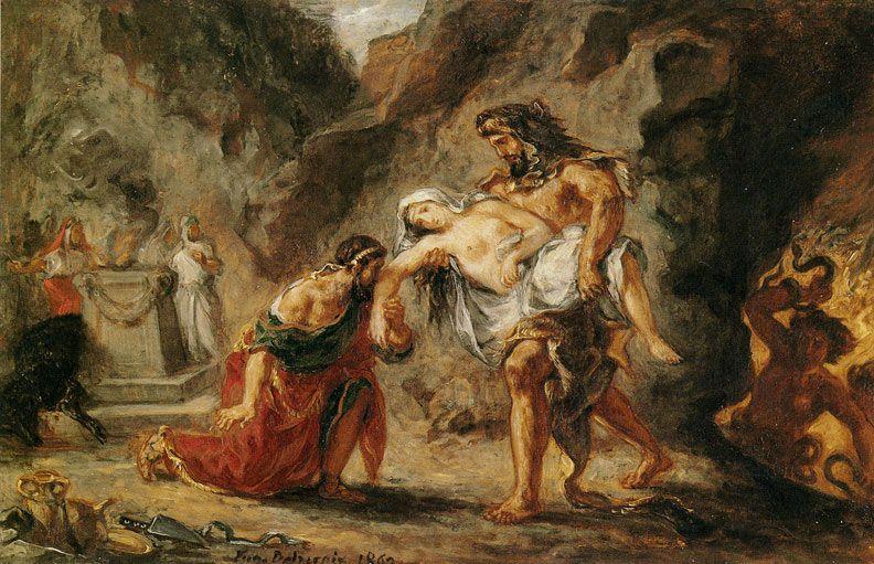Hercules and Alcestis de Delacroix