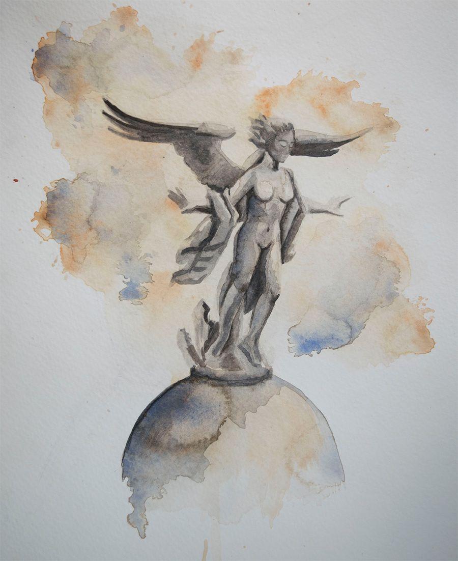 Metamorfosis, Victoria alada de Madrid, por Elisa de la Torre