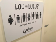 Bathroom sign at my favorite downtown bakery