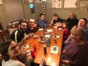 The Averill family dinner table