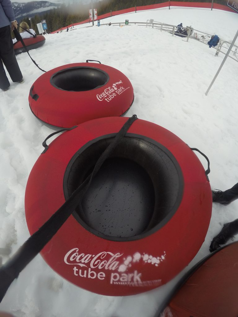 The Coca Cola Tube Park in Whistler is fun for all the family