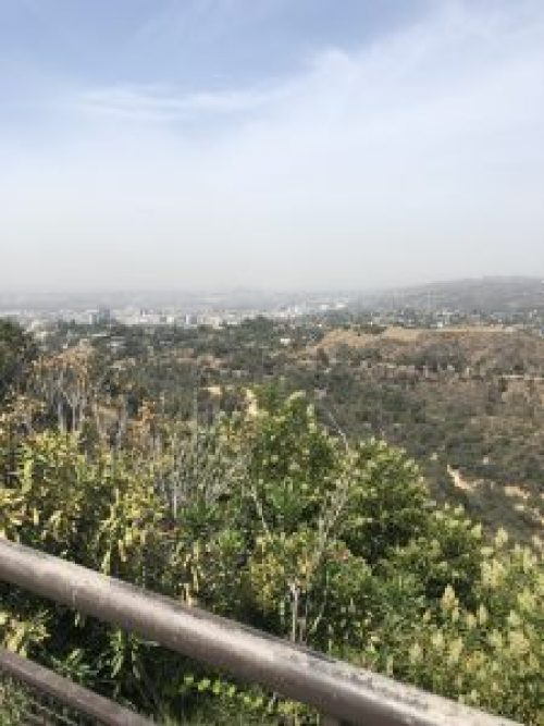 View from the Griffith Observatory, Hollywood, California