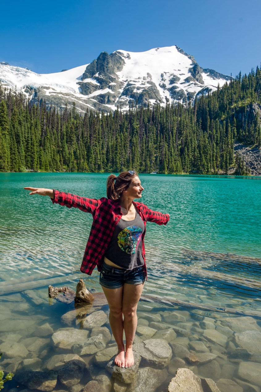 Hiking Joffre Lakes in British Columbia along the Sea to Sky Highway