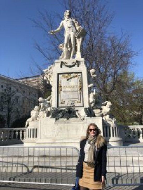 Mozart Statue, Burggarten Vienna