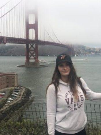 The Golden Gate Bridge in clouds