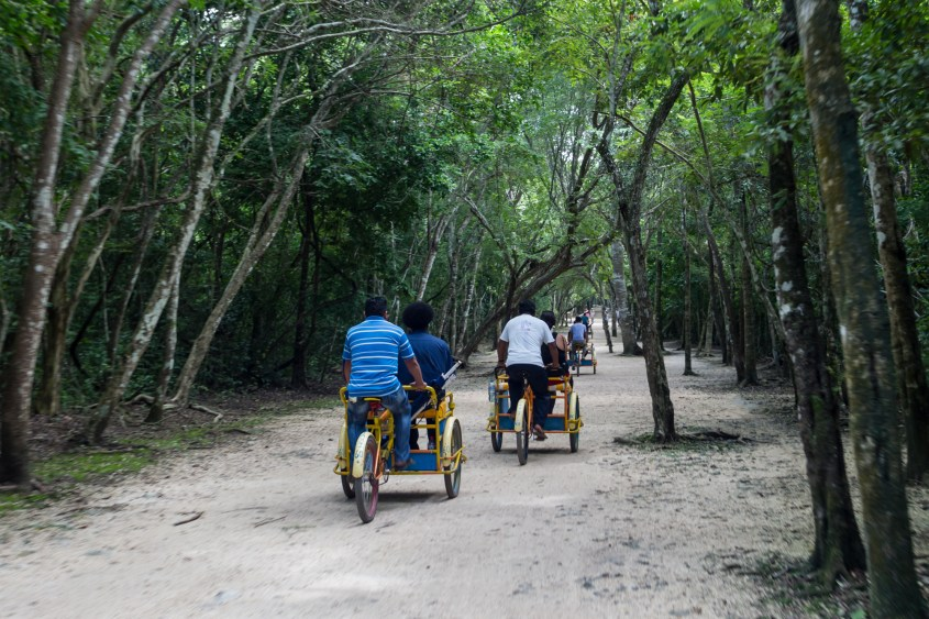 Bicycles at Coba Ruins